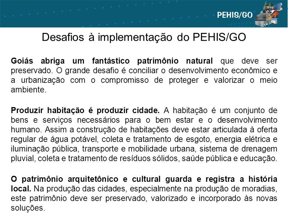 Desafios à implementação do PEHIS/GO