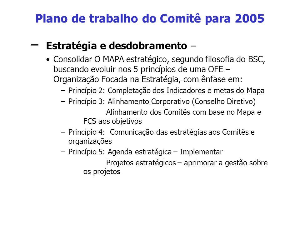 Plano de trabalho do Comitê para 2005