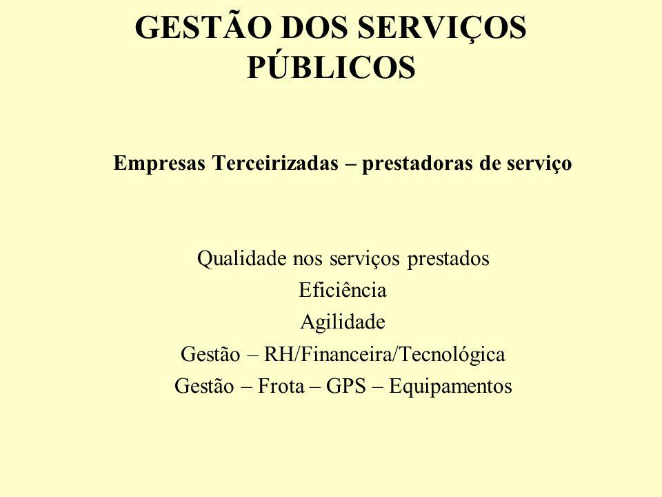GESTÃO DOS SERVIÇOS PÚBLICOS