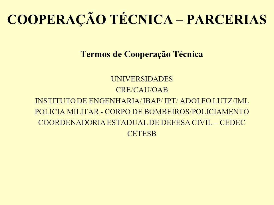 COOPERAÇÃO TÉCNICA – PARCERIAS