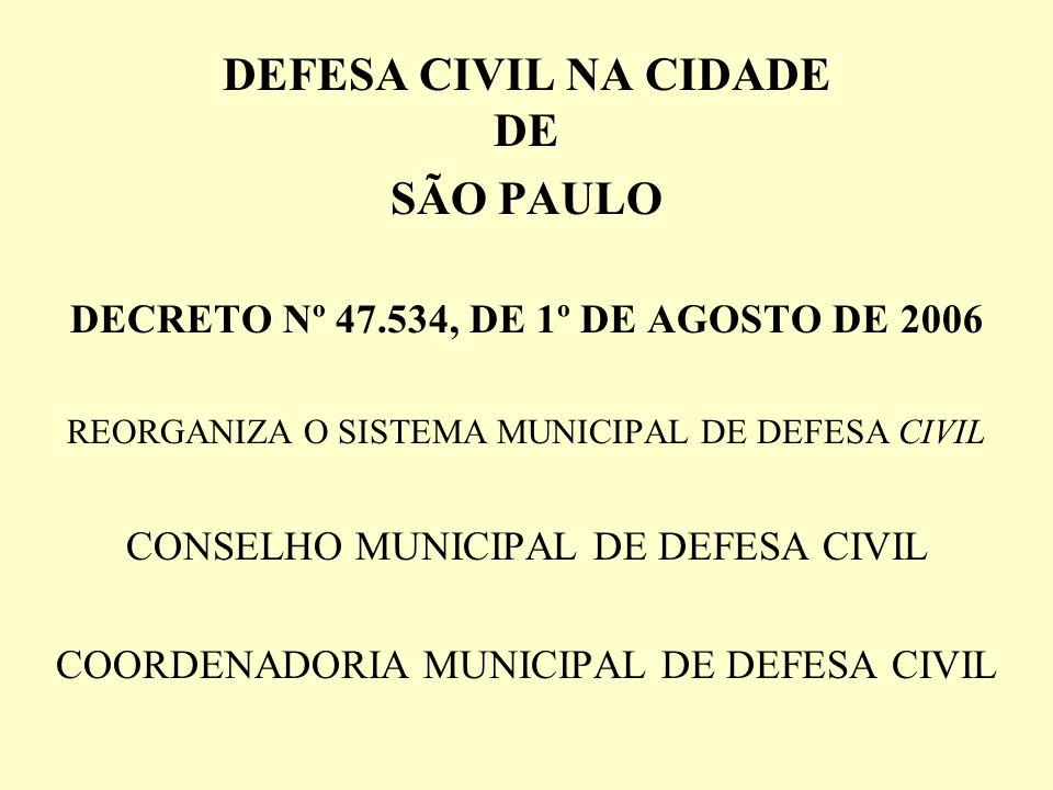 DEFESA CIVIL NA CIDADE DE SÃO PAULO