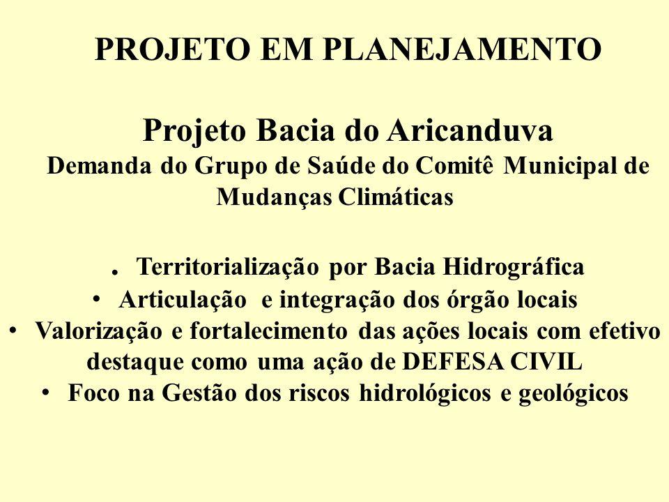 PROJETO EM PLANEJAMENTO Projeto Bacia do Aricanduva