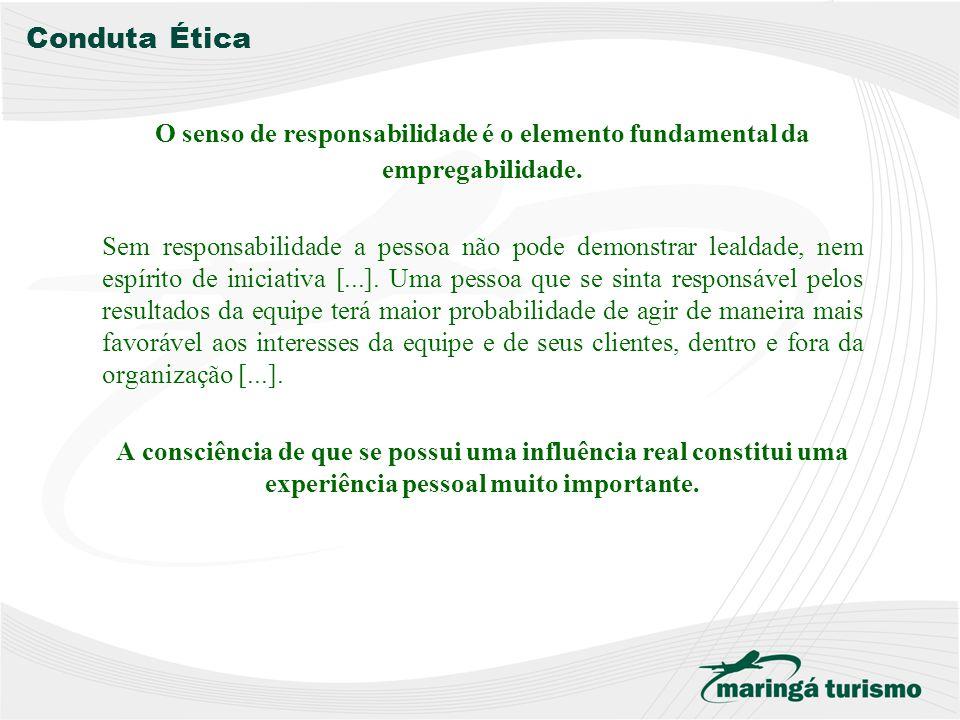 Conduta Ética O senso de responsabilidade é o elemento fundamental da empregabilidade.
