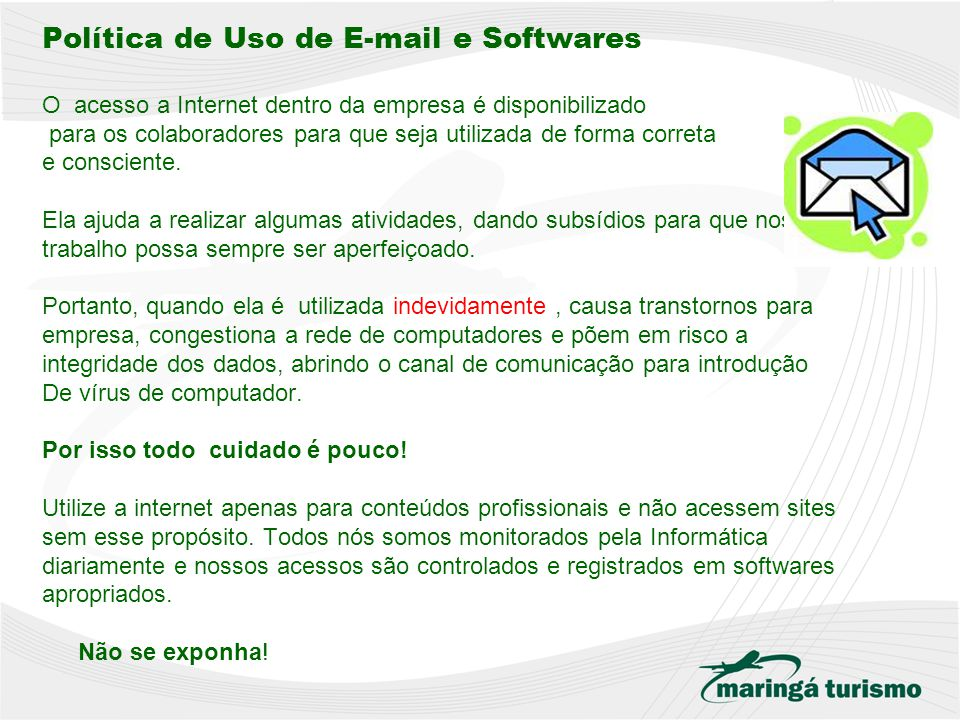 Política de Uso de E-mail e Softwares