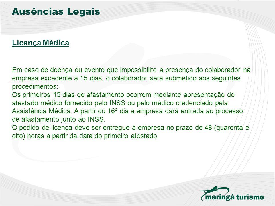 Ausências Legais Licença Médica
