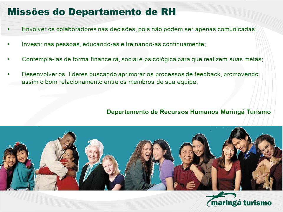 Missões do Departamento de RH