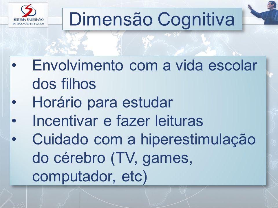 Dimensão Cognitiva Envolvimento com a vida escolar dos filhos