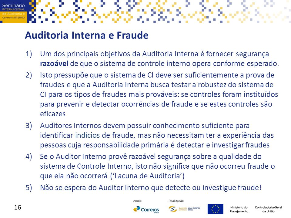Auditoria Interna e Fraude
