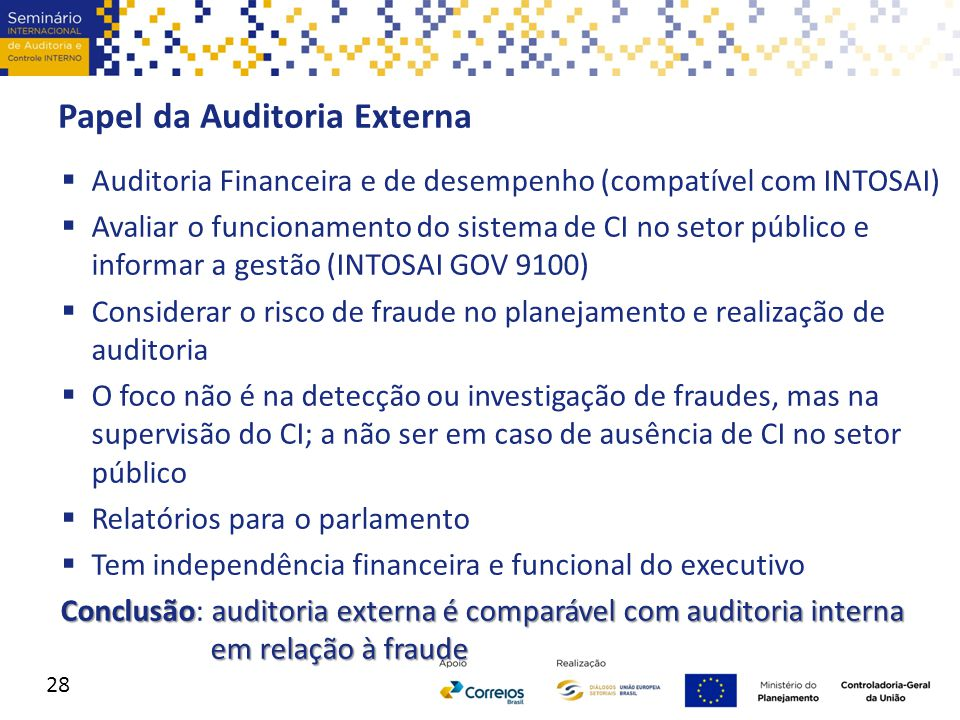 Papel da Auditoria Externa