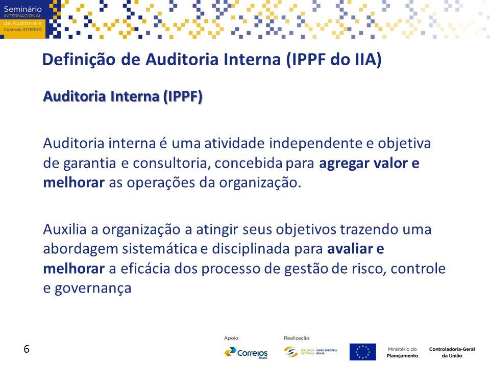 Definição de Auditoria Interna (IPPF do IIA)