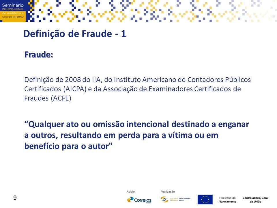 Definição de Fraude - 1 Fraude: