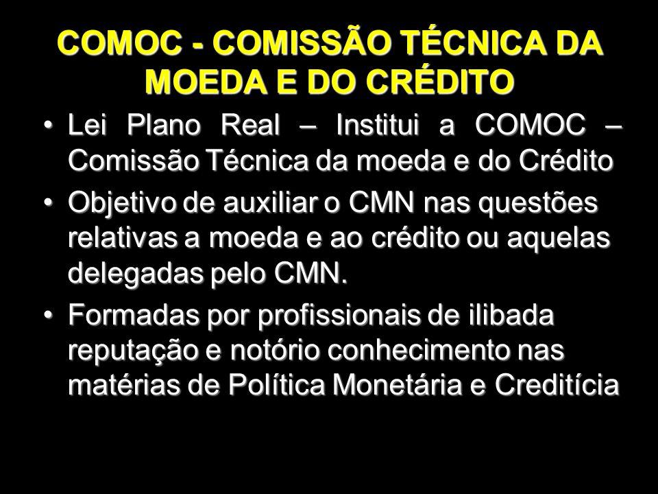 COMOC - COMISSÃO TÉCNICA DA MOEDA E DO CRÉDITO