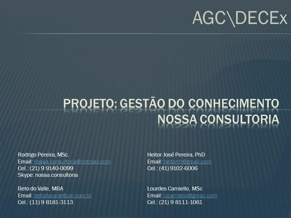 Projeto: Gestão do Conhecimento NOSSA Consultoria