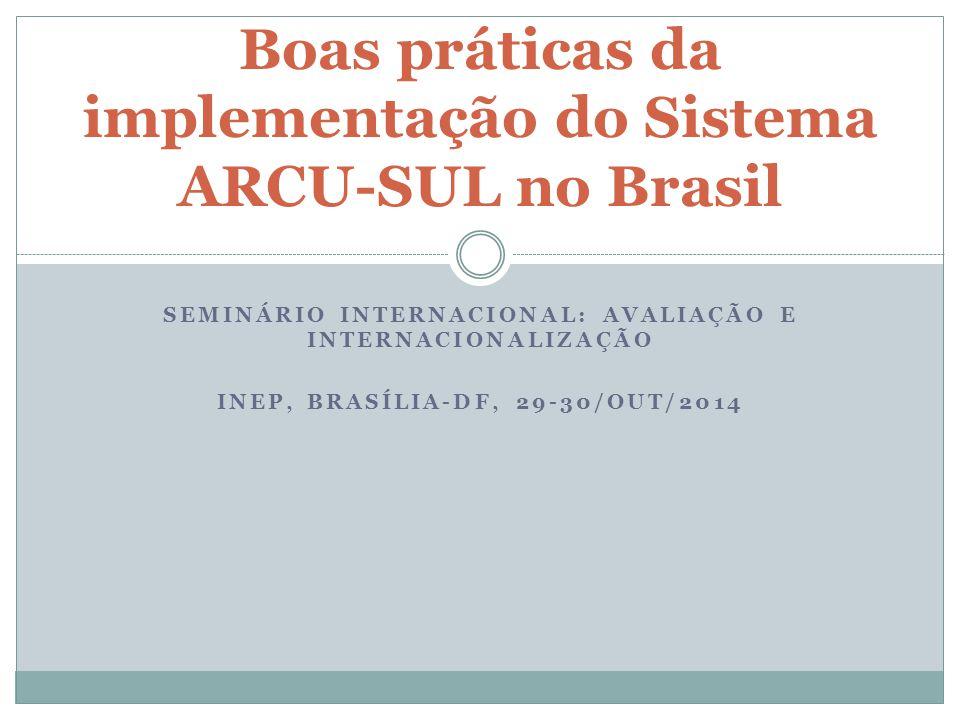 Boas práticas da implementação do Sistema ARCU-SUL no Brasil