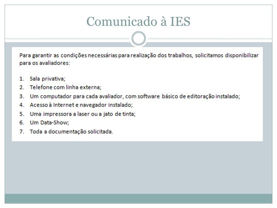 Comunicado à IES