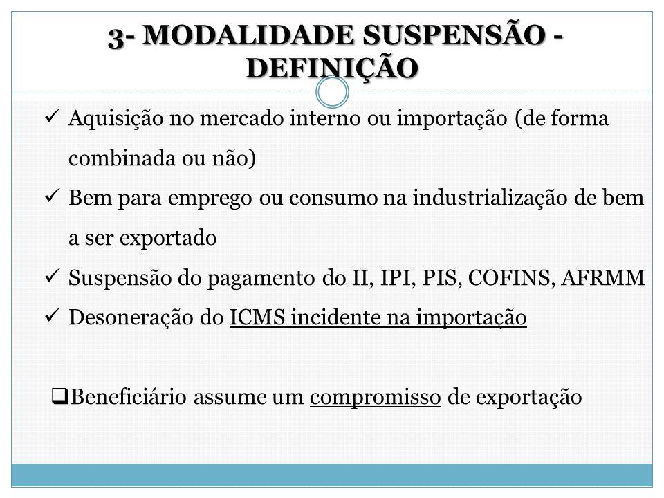 3- MODALIDADE SUSPENSÃO - DEFINIÇÃO