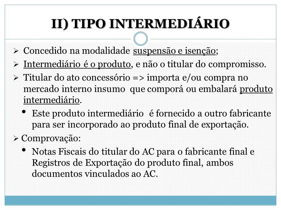 II) TIPO INTERMEDIÁRIO