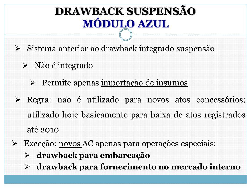 DRAWBACK SUSPENSÃO MÓDULO AZUL
