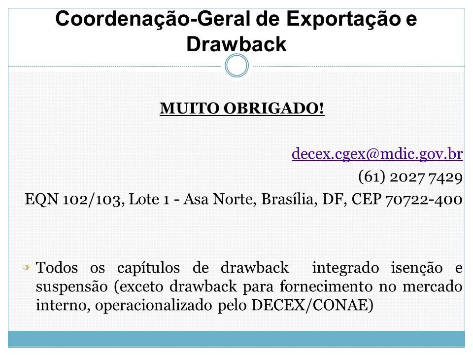 Coordenação-Geral de Exportação e Drawback