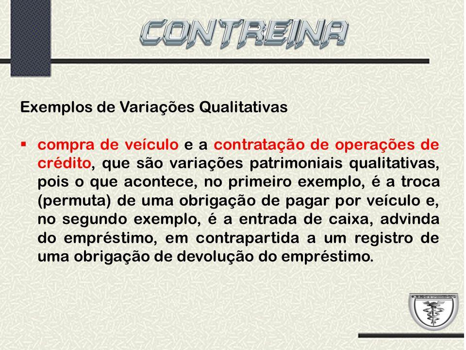 Exemplos de Variações Qualitativas