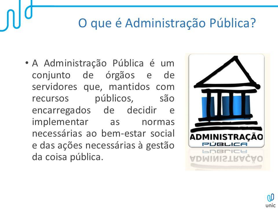 O que é Administração Pública