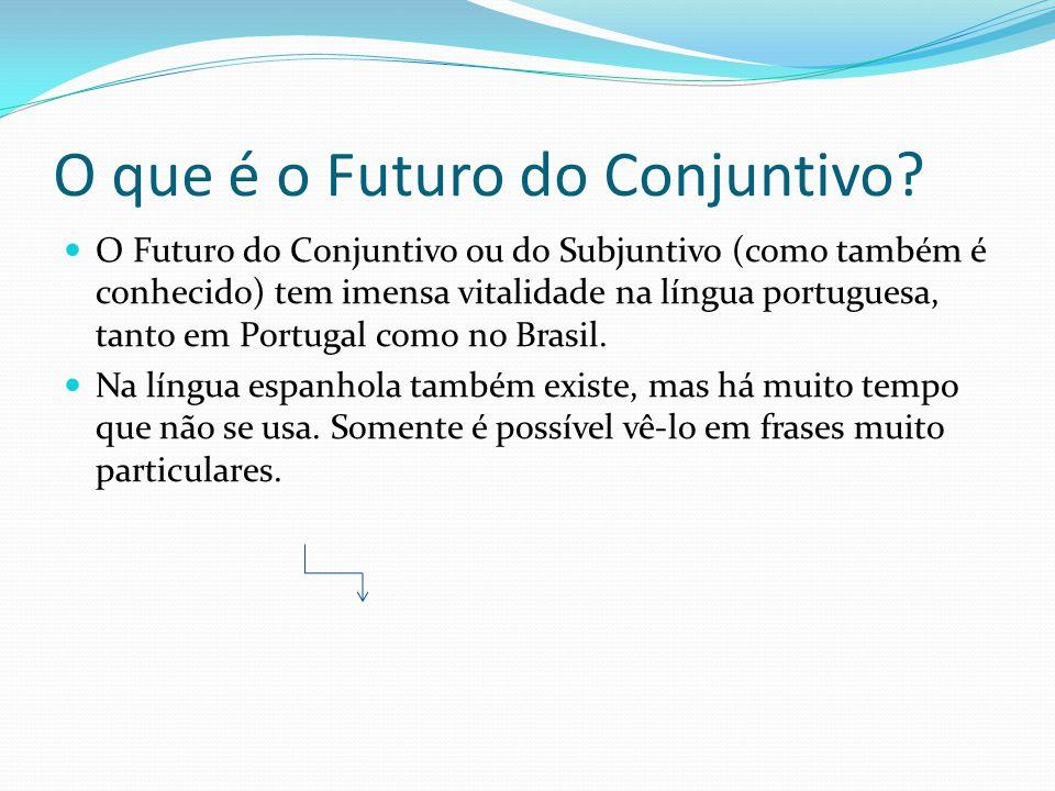 O que é o Futuro do Conjuntivo