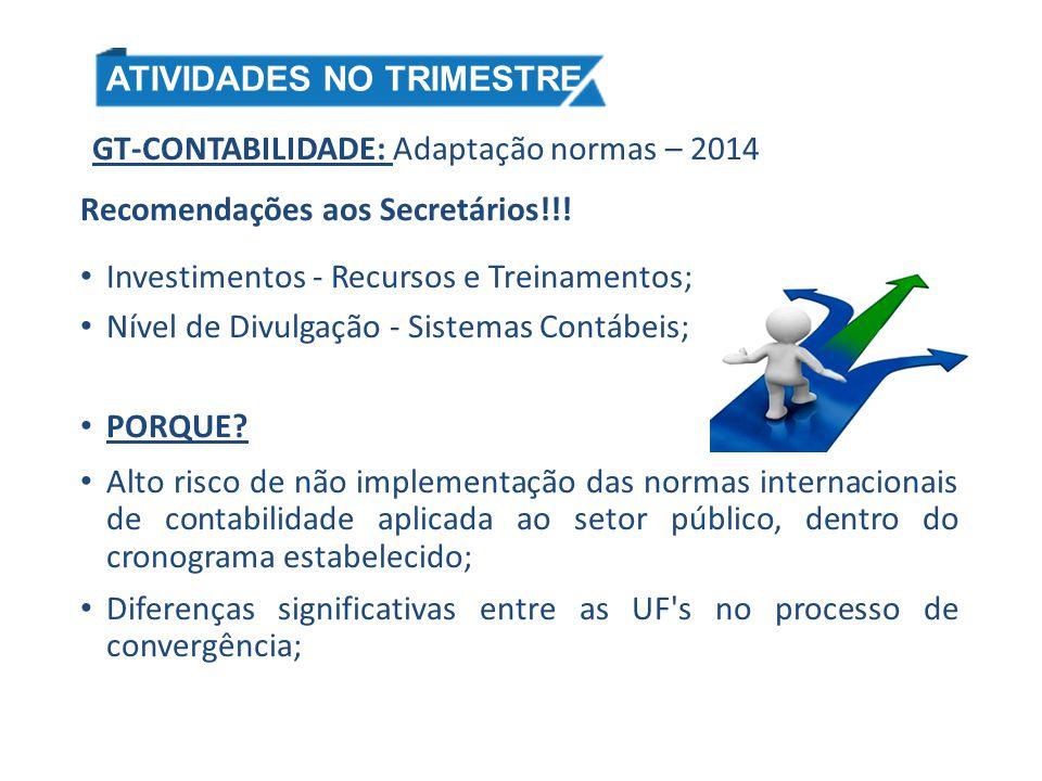 GT-CONTABILIDADE: Adaptação normas – 2014