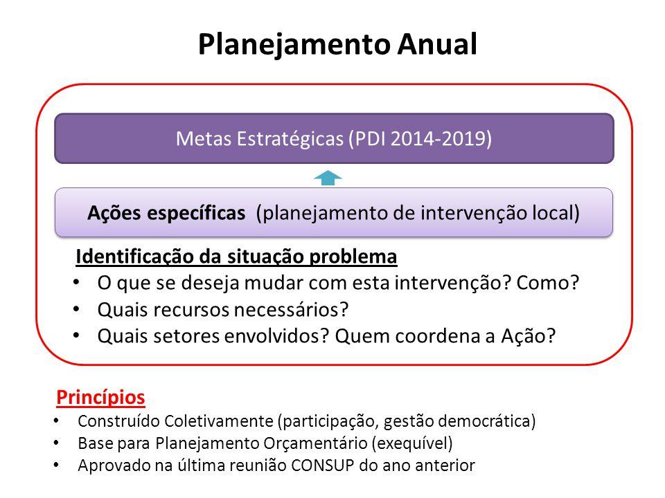 Planejamento Anual Metas Estratégicas (PDI 2014-2019)