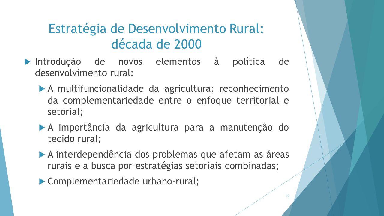 Estratégia de Desenvolvimento Rural: década de 2000