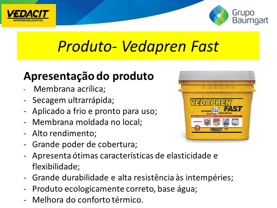 Produto- Vedapren Fast