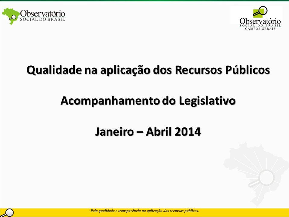 Qualidade na aplicação dos Recursos Públicos