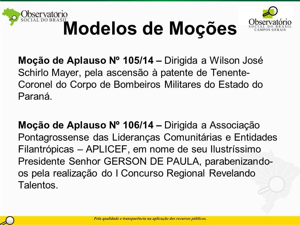 Modelos de Moções