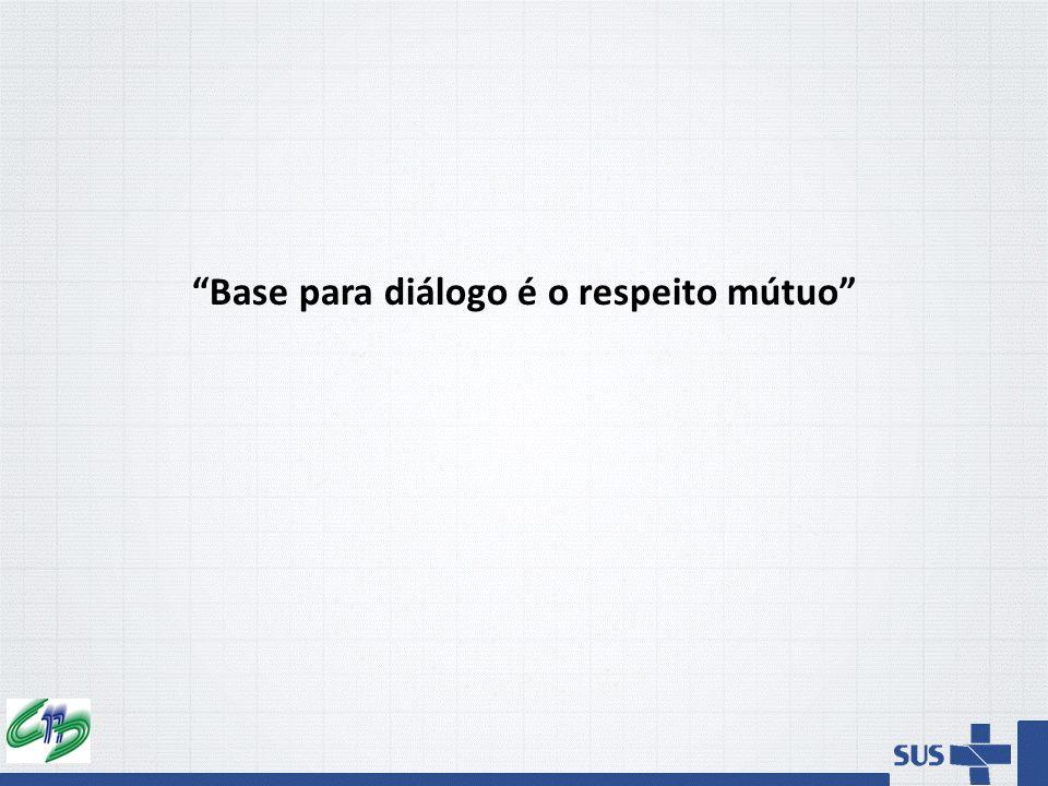 Base para diálogo é o respeito mútuo