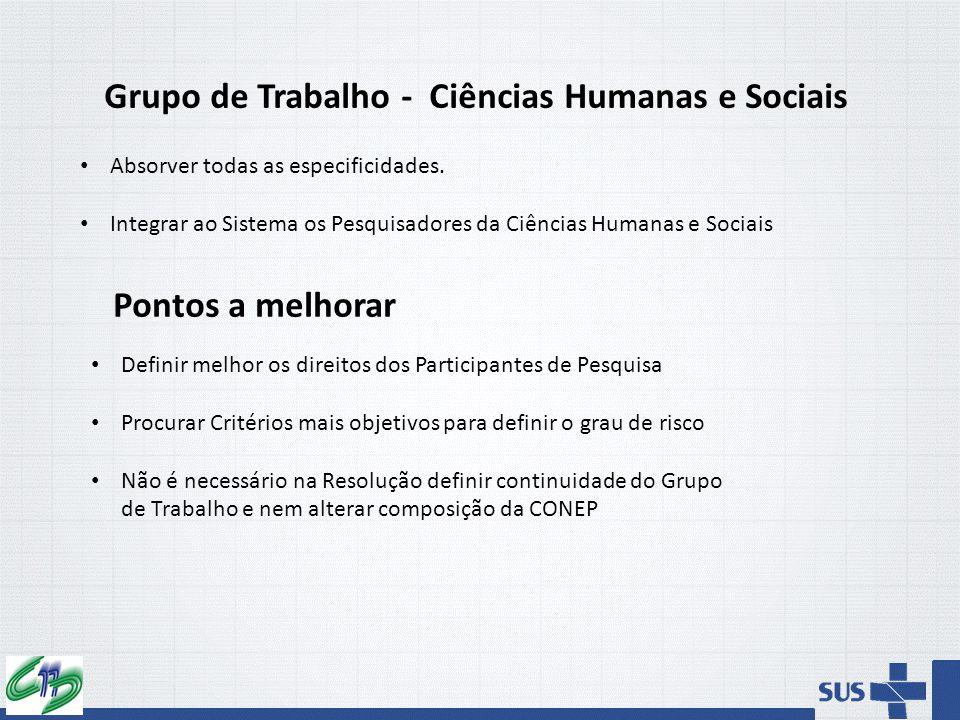 Grupo de Trabalho - Ciências Humanas e Sociais