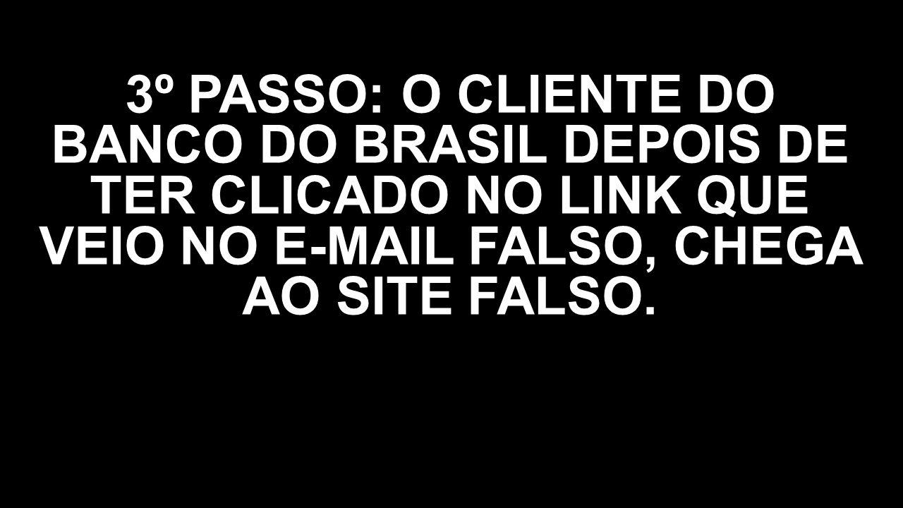 3º PASSO: O CLIENTE DO BANCO DO BRASIL DEPOIS DE TER CLICADO NO LINK QUE VEIO NO E-MAIL FALSO, CHEGA AO SITE FALSO.