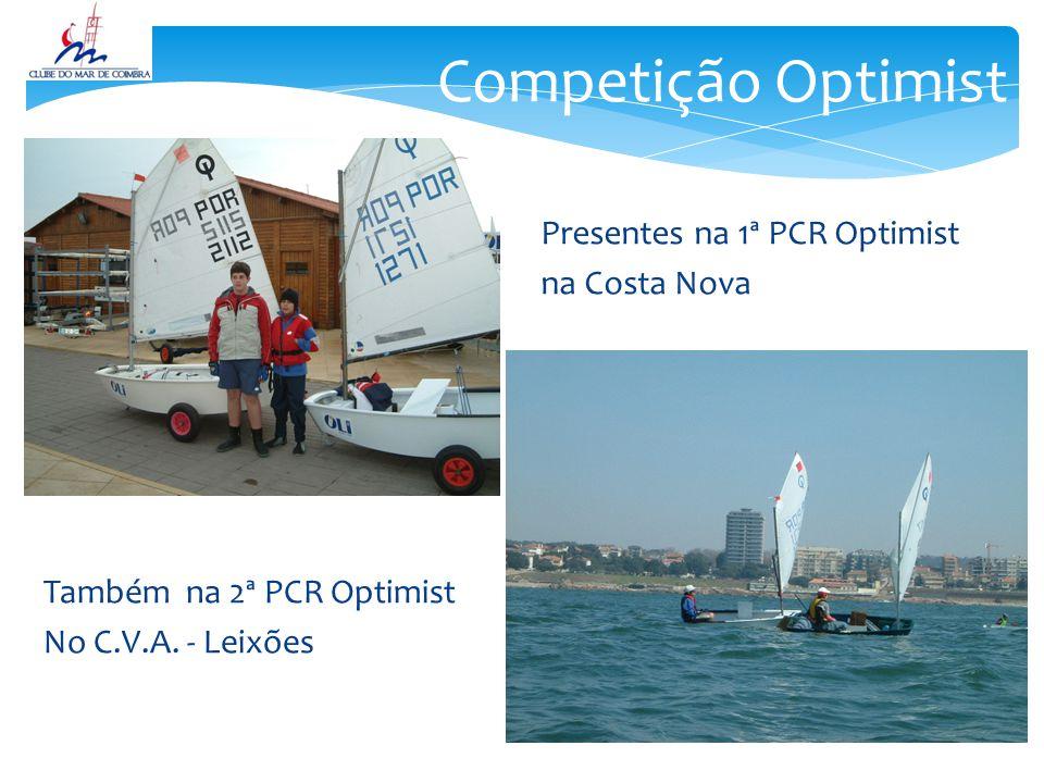 Competição Optimist Presentes na 1ª PCR Optimist na Costa Nova