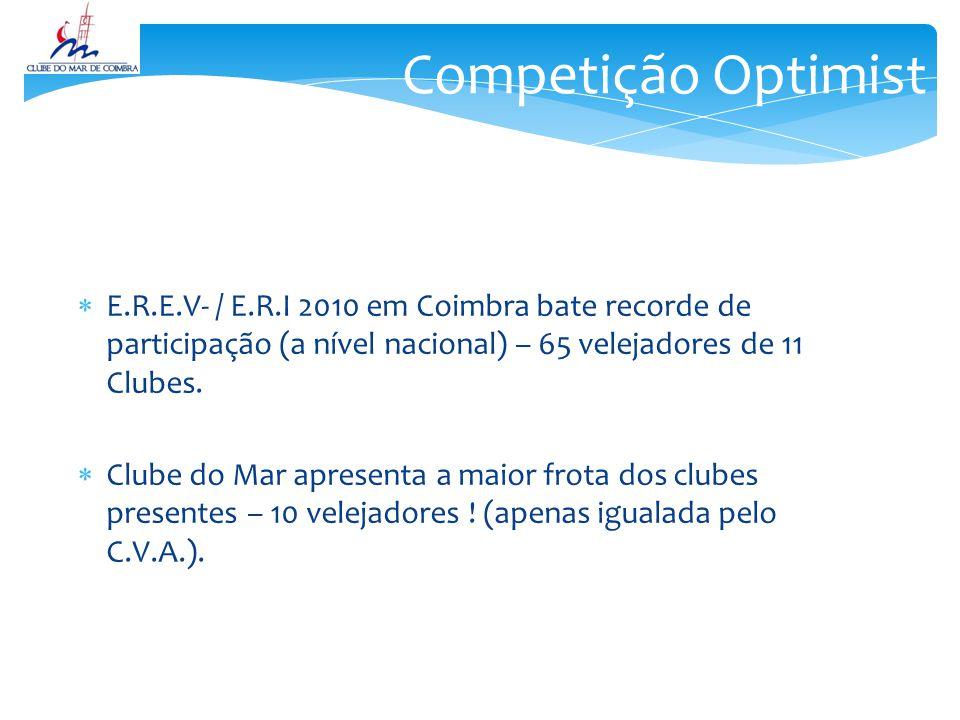 Competição Optimist E.R.E.V- / E.R.I 2010 em Coimbra bate recorde de participação (a nível nacional) – 65 velejadores de 11 Clubes.