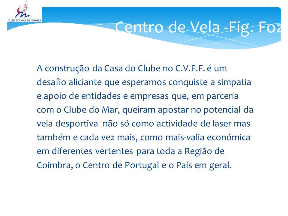 Centro de Vela -Fig. Foz A construção da Casa do Clube no C.V.F.F. é um. desafio aliciante que esperamos conquiste a simpatia.