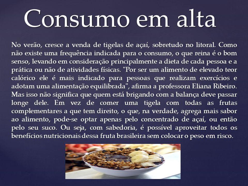 Consumo em alta