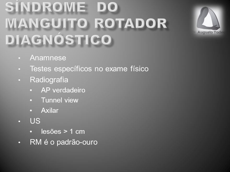 Síndrome do manguito rotador diagnóstico