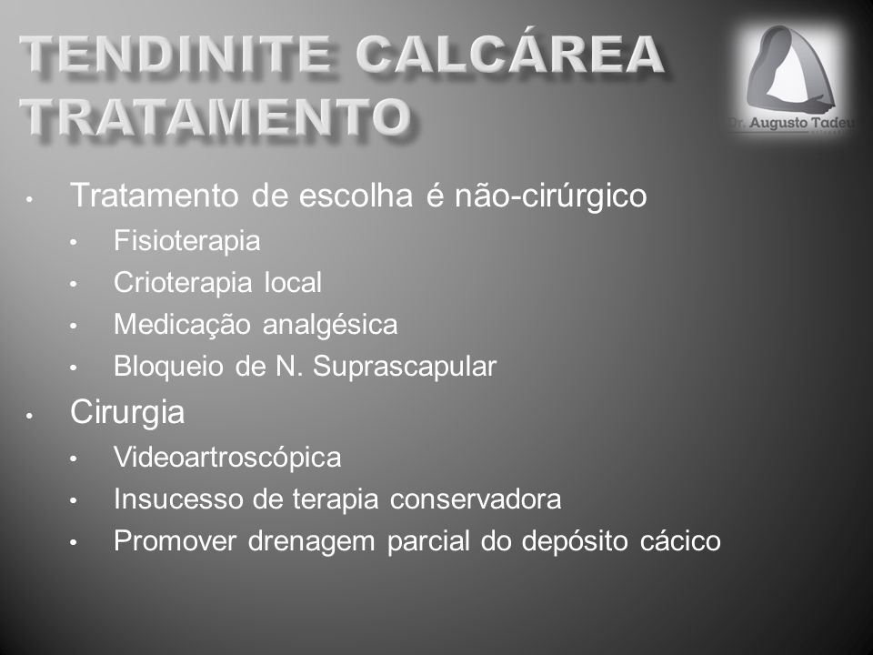 tendinite calcárea tratamento