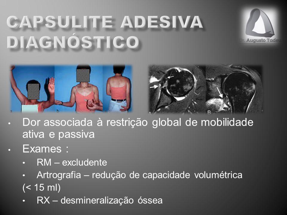 capsulite adesiva DIAGNÓSTICO