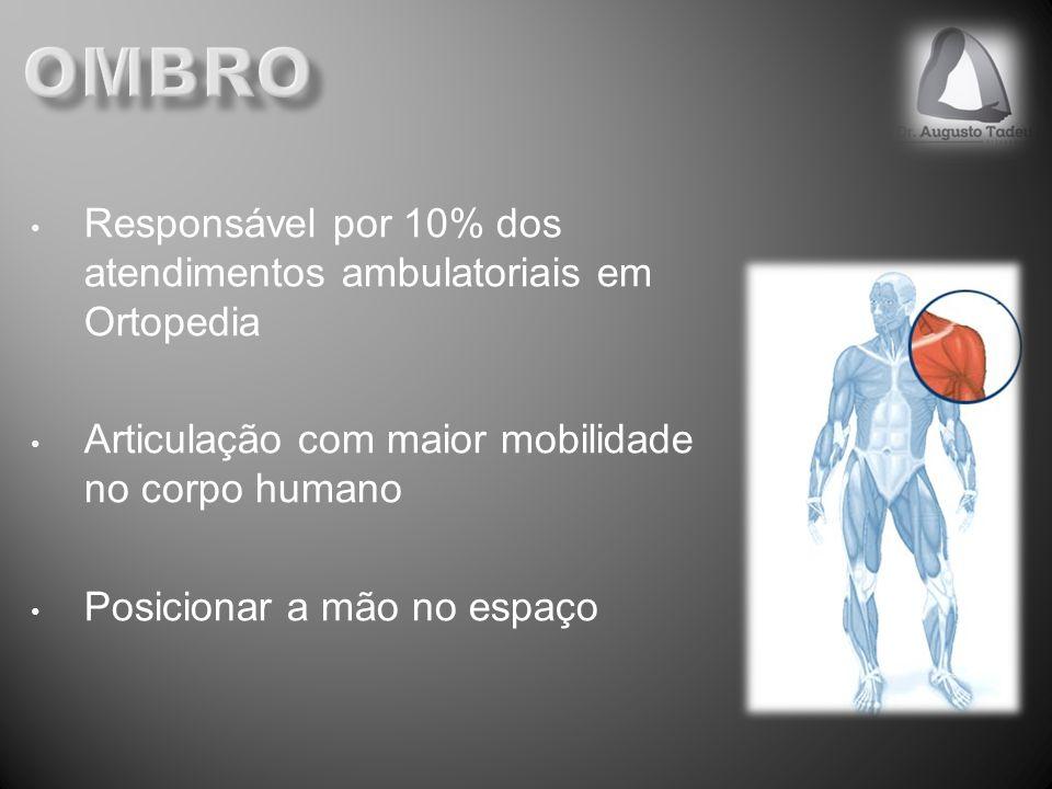 Ombro Responsável por 10% dos atendimentos ambulatoriais em Ortopedia