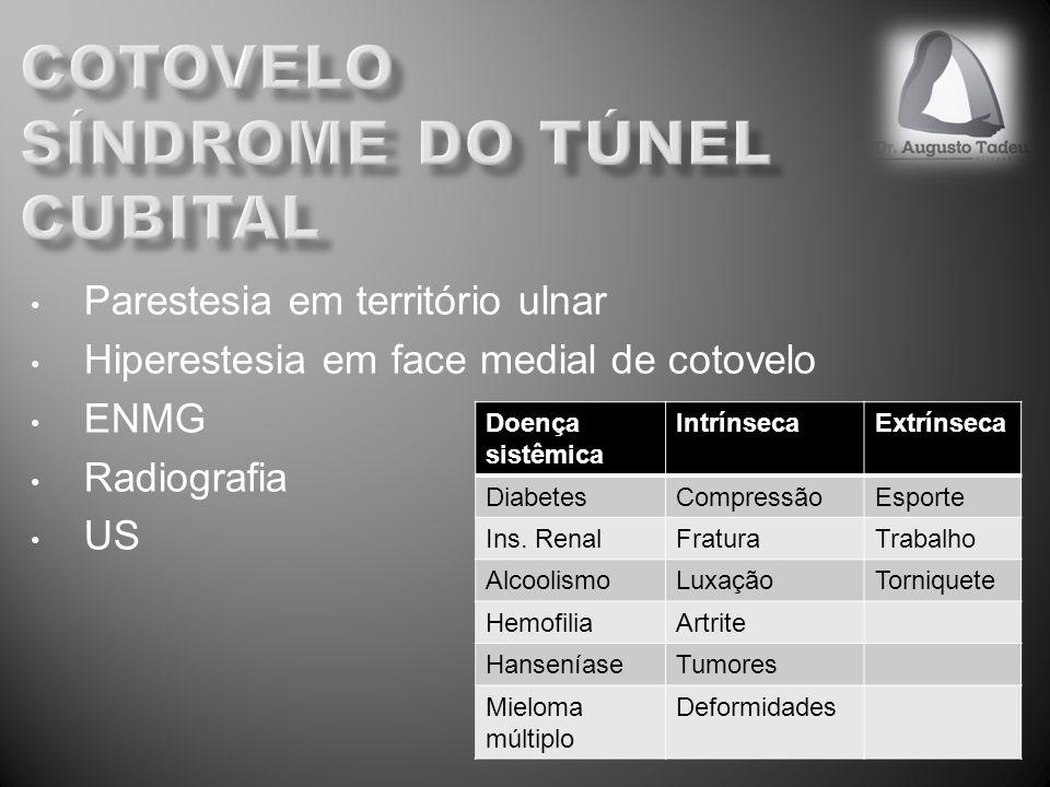 cotovelo síndrome do túnel cubital