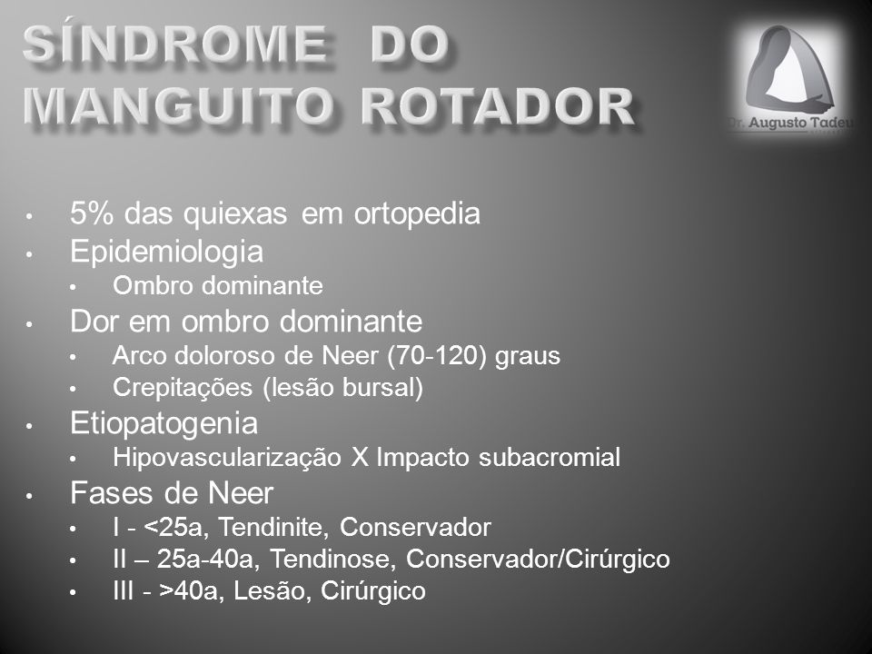 Síndrome do manguito rotador