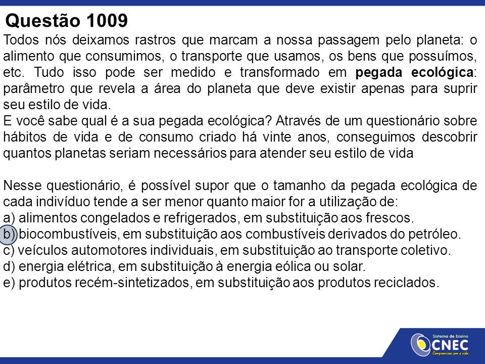 Questão 1009