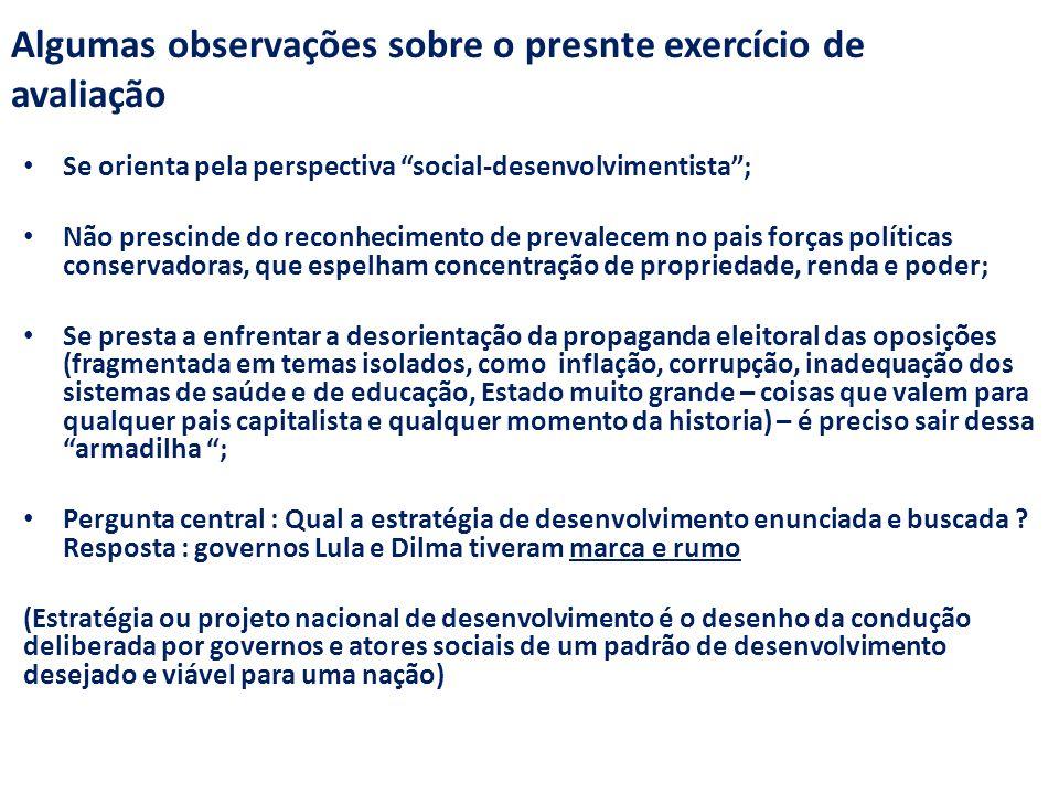 Algumas observações sobre o presnte exercício de avaliação