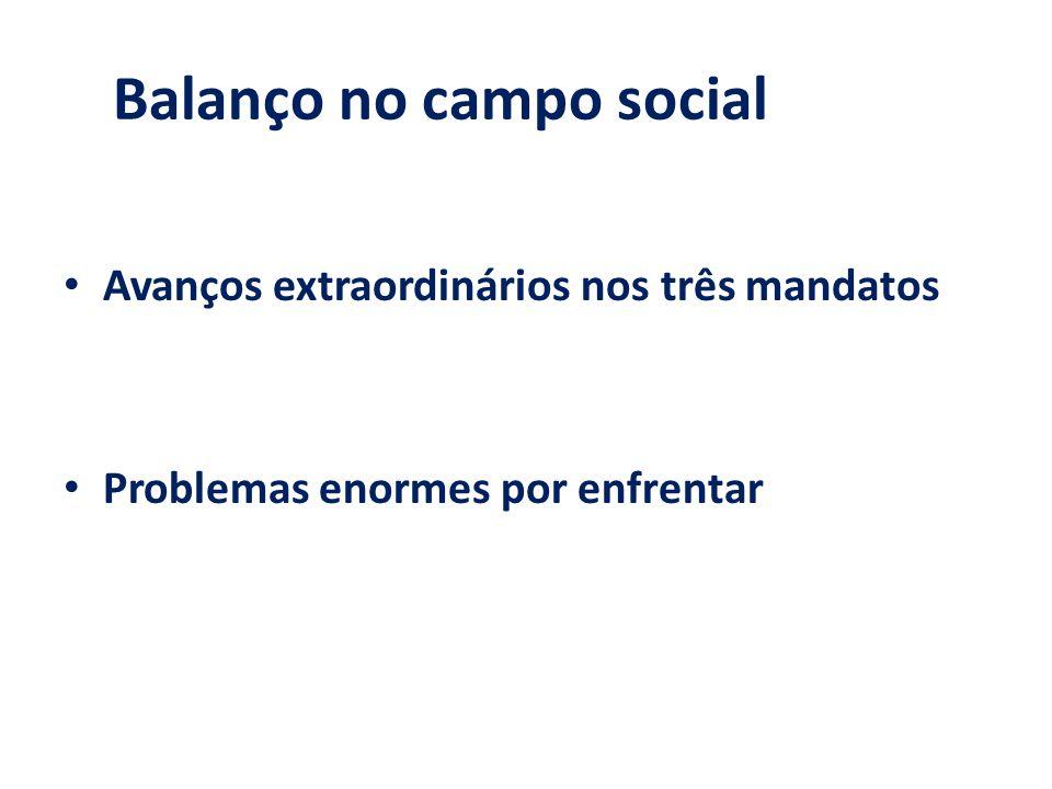 Balanço no campo social