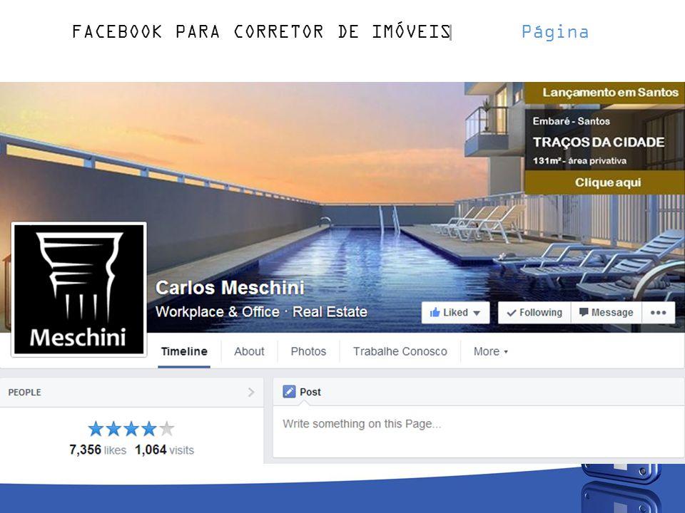 FACEBOOK PARA CORRETOR DE IMÓVEIS Página