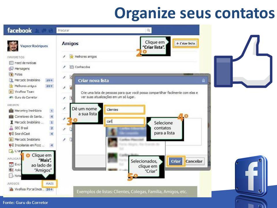 Organize seus contatos